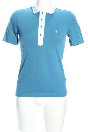 Golfino Polo turchese-bianco stile casual