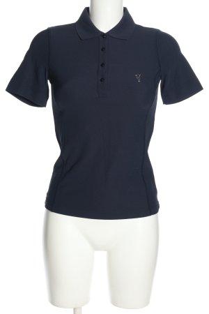 Golfino Polo shirt blauw geborduurde letters casual uitstraling