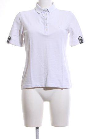 Golfino Camiseta tipo polo blanco-negro estilo deportivo