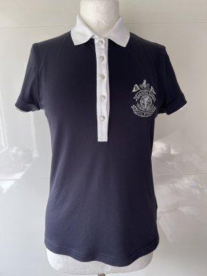 Golfino Poloshirt Golfpolo kuzarm blau weiss abgesetzt