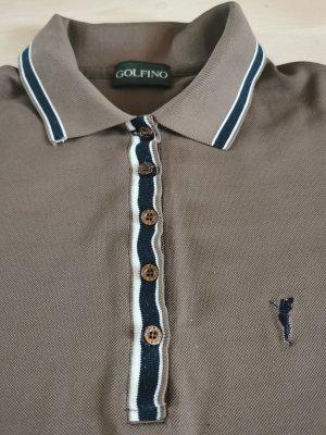 Golfino Polo marrone-grigio-blu scuro