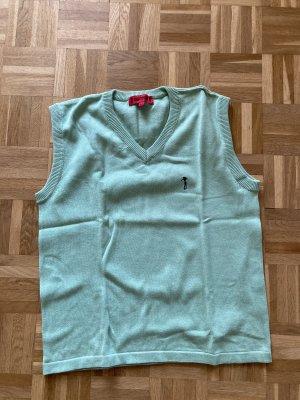 Golfino Sweter bez rękawów z cienkiej dzianiny turkusowy