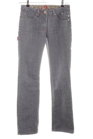 Golfino Jeans a gamba dritta grigio chiaro stile casual
