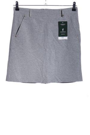 Golfino Gonna stretch grigio chiaro puntinato stile casual
