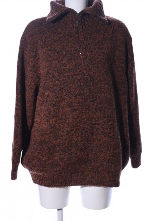 Golfino Knitted Sweater black-light orange flecked business style