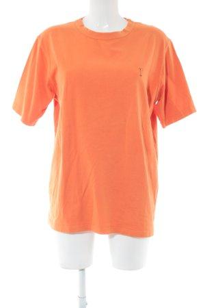Golfino T-shirt arancione chiaro stile casual