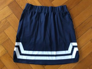 Cross Stretch Skirt white-dark blue