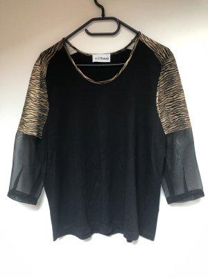 Gollehaug 3/4 Shirt, Transparente Ärmel, Leoprint, Größe 42