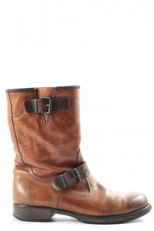 gommus Wide Calf Boots brown casual look