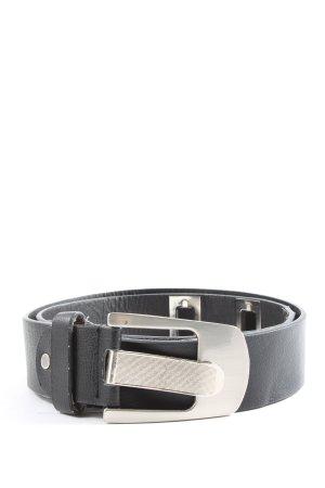 Good days Cinturón de cuero de imitación negro-color plata look casual