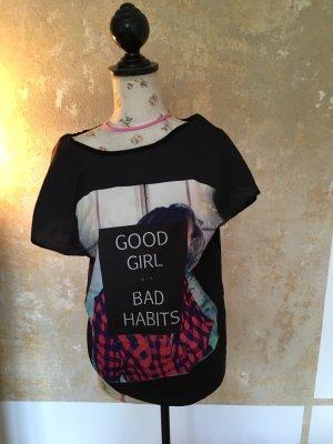 Vero Moda Shirt met print zwart