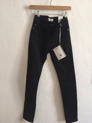 goodsociety Hoge taille jeans zwart
