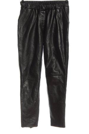 Goosecraft Pantalone in pelle nero stile casual