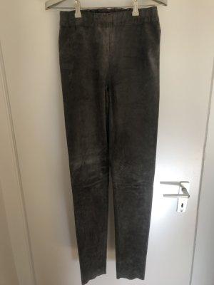 Goosecraft Pantalone in pelle grigio Pelle