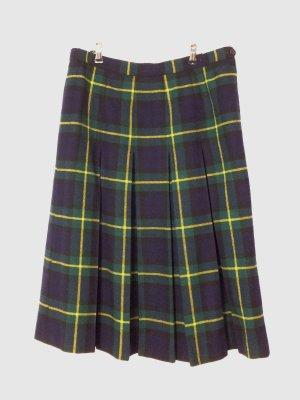 Vintage Plaid Skirt multicolored new wool