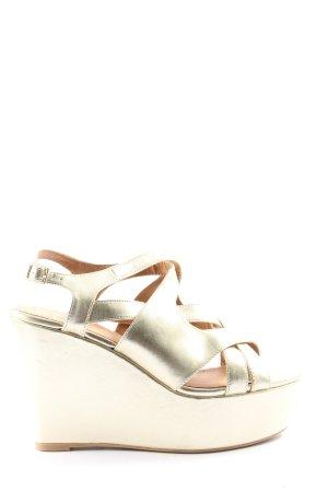 gortz Platform Sandals gold-colored casual look
