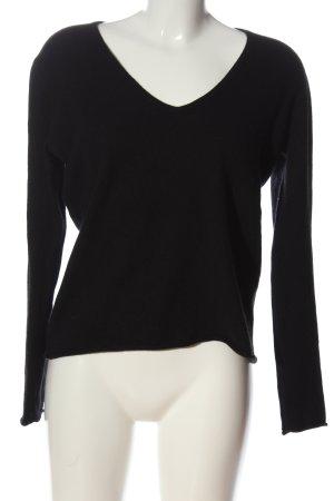 Gosche Kaszmirowy sweter czarny W stylu casual