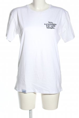 Gossengold T-Shirt weiß Schriftzug gedruckt Casual-Look