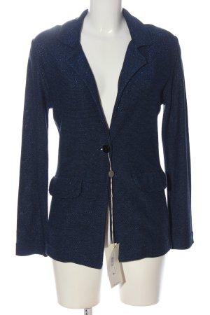 gotha Knitted Blazer black-blue striped pattern casual look