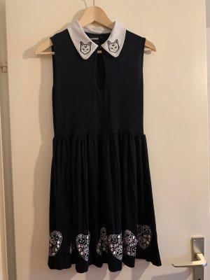 Gothic Kleid mit Katzenköpfen