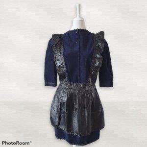 True Vintage Robe Babydoll bleu foncé cuir