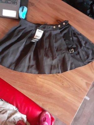 GOTHIC shorts mit umwickelten FALTENROCK gr.l NEU AUFWENDIG punkrave
