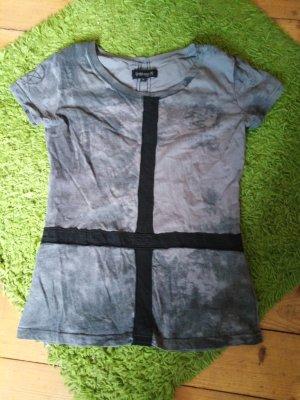 Punk Gothic Batik shirt zwart-grijs