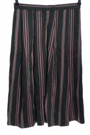 Gottseidank Traditional Skirt black-pink striped pattern casual look
