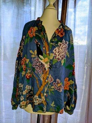 H&M Oversized blouse neon blauw