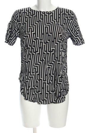 GP & JBAKER X H&M Schlupf-Bluse schwarz-weiß grafisches Muster Casual-Look