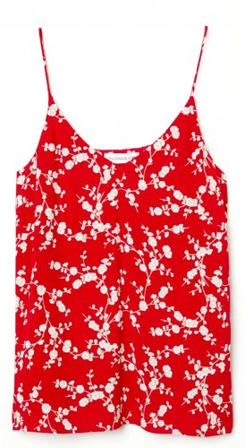 H&M Strappy Top red-natural white