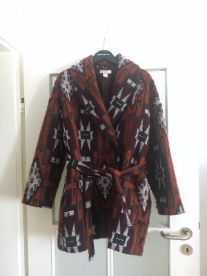 H&M Premium Abrigo ancho multicolor