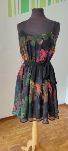 Gr. 36, Kleid, H&M, Trägerkleid, Sommerkleid mit floralem Muster, Blumen