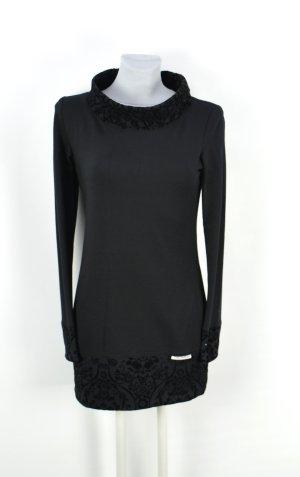 Robe crayon noir coton