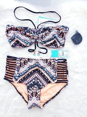 Seafolly Bikini nero-albicocca