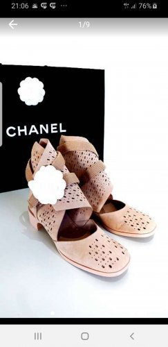 Gr. 37 * Original CHANEL Schuhe Rose Nude WOW * TOP Zustand