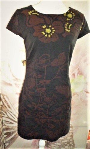 Gr. 38 DESIGUAL Kleid Übergang sehr guter Zustand, schwarz braun gelbgrün-Ton  vermesse auf Anfrage
