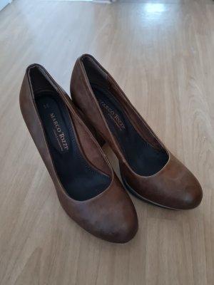Marco Tozzi Chaussure à talons carrés marron clair-brun