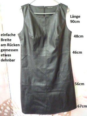 Bréal Leren jurk zwart