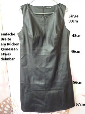 Bréal Robe en cuir noir