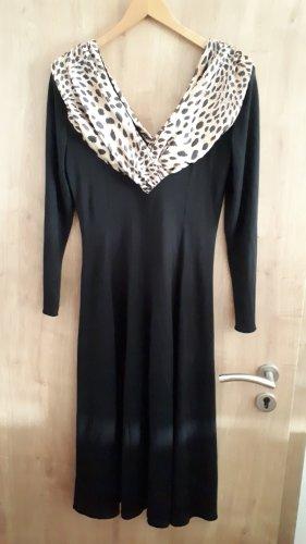 Gr. 40 Damen Retro True Vintage Abendkleid schick chic 1980er 1990er ? Leopard