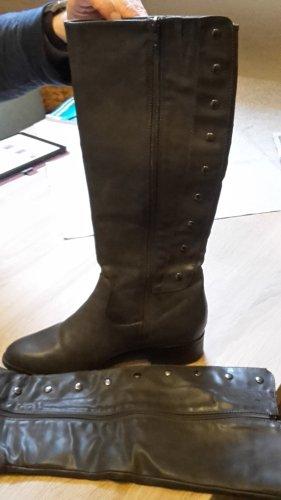 Gr. 40 Stiefel, grau von Graceland mit Nieten