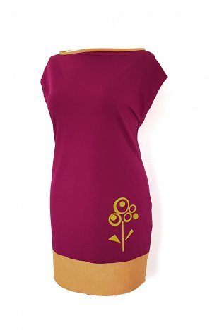 Jerseyjurk paars-goud Oranje Katoen