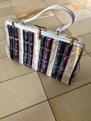 Gr.M Vintage Handtasche schlangenleder Patchwork