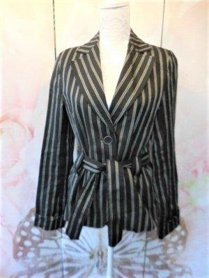 Zara Tweed Blazer black-beige linen