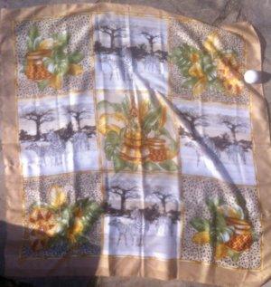 gr. sehr decoratives Halstuch/ Schultertuch, #africa