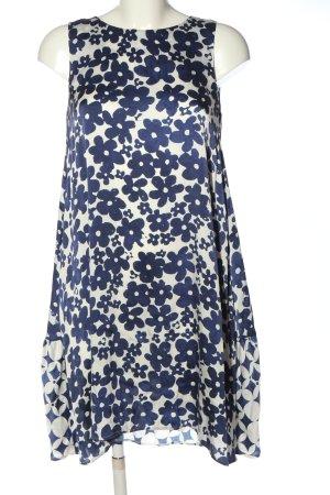 Grace A-Linien Kleid weiß-lila abstraktes Muster Elegant
