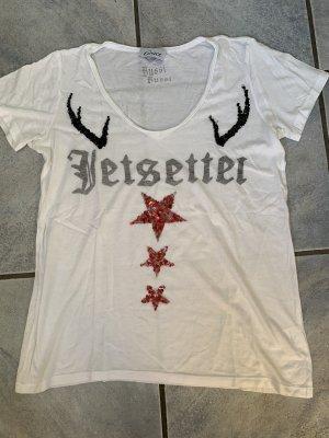 Grace Bussi T-Shirt Motivdruck Jetsetter