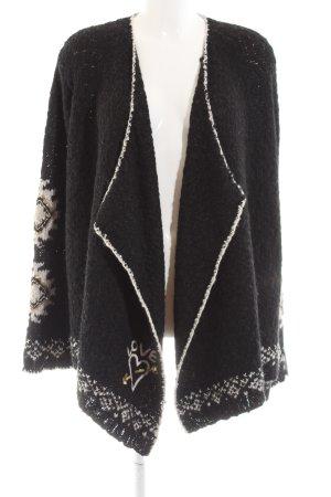 Grace Grobstrickjacke schwarz-wollweiß Casual-Look