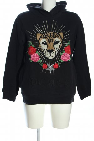 Grace Kapuzensweatshirt Blumenmuster Casual-Look